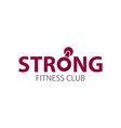 strong fitness club logo template vector image vector image