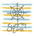 summer time helm and stripes vector image vector image