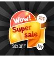 Super sale banner Advertising flyer for commerce vector image vector image