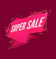 super sale banner flat style sale ribbon banner vector image vector image