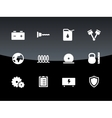Tools icons on black background vector image vector image