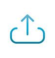 upload data user interface blue gradient vector image