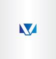 v logo symbol letter v icon design vector image