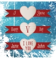 Valentines Day Labels Set vector image vector image