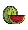 watermelon fruit icon stock vector image vector image