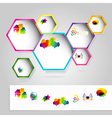 Web windows with colorful icons vector image