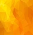 yellow orange polygonal triangular pattern vector image vector image