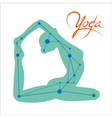 yoga constellation vector image