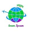 Travel company logo vector image