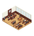 law justice isometric composition icon vector image