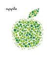 green apple silhouette created from dots vector image