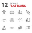 12 cable icons vector image vector image