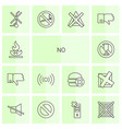 14 no icons vector image vector image