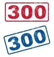 300 Rubber Stamps vector image vector image