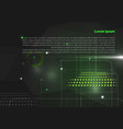 abstract green background with hi-tech elements vector image