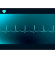 Abstract heart beats cardiogram vector image vector image