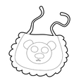 Baby bib icon isometric 3d style vector image vector image
