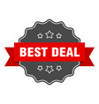 best deal label best deal isolated seal sticker vector image vector image