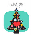 best wishes for the new year greeting card vector image