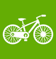 bicycle icon green vector image vector image