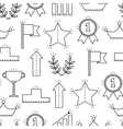 Black and white seamless pattern with icons of vector image
