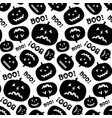 black and white seamless pattern with pumpkin vector image vector image