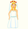 bride in gown vector image
