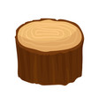 brown stump of old dry tree with annual growth vector image vector image