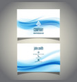 business card with waves design vector image