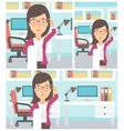 Business woman with long bill vector image vector image