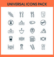 cafe icons set collection of beverage food vector image