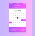 calendar app ui concept vector image vector image