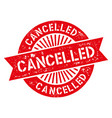 cancelled stamp vector image vector image