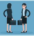cartoon young business women vector image vector image