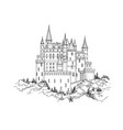 castle landmark medieval palace building with vector image vector image
