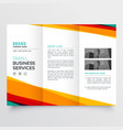 colorful abstract business trifold brochure design vector image vector image