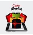 Cyber monday shopping design vector image vector image
