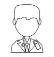 doctor profile cartoon vector image
