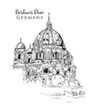 drawing sketch berliner dom vector image