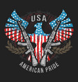 eagle usa flag and weapon vector image vector image