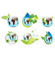 Earth Eco Design Collection vector image vector image