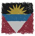 Flag of Antigua and Barbuda handmade square shape vector image vector image