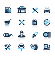 Gas Station Icons Azure vector image