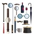 Gentleman accessories vector image vector image