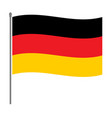 german flag on the flagpole vector image vector image