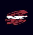 grunge textured latvian flag vector image vector image