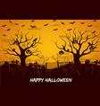 happy halloween composition vector image vector image