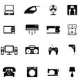 home appliance icon set vector image