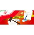 iran corruption money bribery financial law vector image vector image