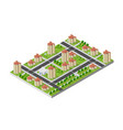 isometric 3d landscape top view building of vector image vector image